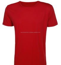 Interlock T shirt 100% polyester dri fit color red
