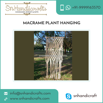 Accurate Dimension Compact Size Macrame Plant Hangers Price