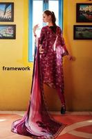 Three piece Digital Print lawn Swiss voile salwar kameez suit in Framework digital print / Pakistani wholesale salwar kameez