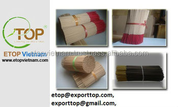 Round bamboo sticks for incense (Skype ID: micha.etopvn)