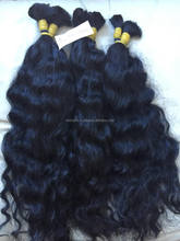 Wavy Cambodian virgin human natural hair extention remy hair no chemical