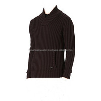 MEN'S ACRYLIC PULLOVER: MEN'S LONG SLEEVE HEAVY KNITTED 3GG PULLOVER SWEATERS