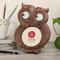 Handmade Owl Shaped Wooden Photo Picture Frame Home Decorative Accessories