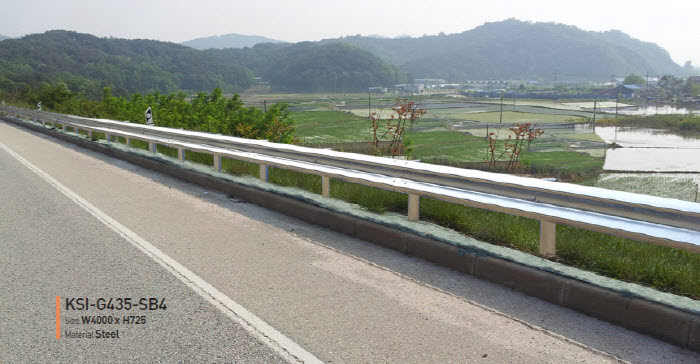 Road safety guardrail crash barrier highway