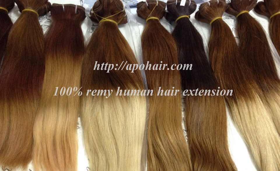 Ombre color hair from APO hair company -Best Quality 100% Virgin Human Hair Extension