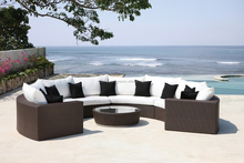 New Outdoor Model Beauty Round Sofa Style garden rattan outdoor furniture PE wicker, Garden poly rattan furniture
