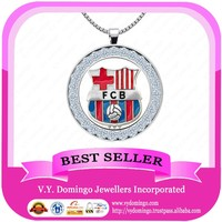Cheap Silver with AAAAA czs Messi Pendant