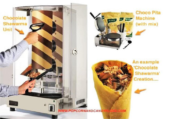 Chocolate Shawarma Gourmet Machine chocolate kebab