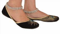 Zephyrr Fashion Silver Tone Anklet Foot Jewelry with CZ Kundun for Women