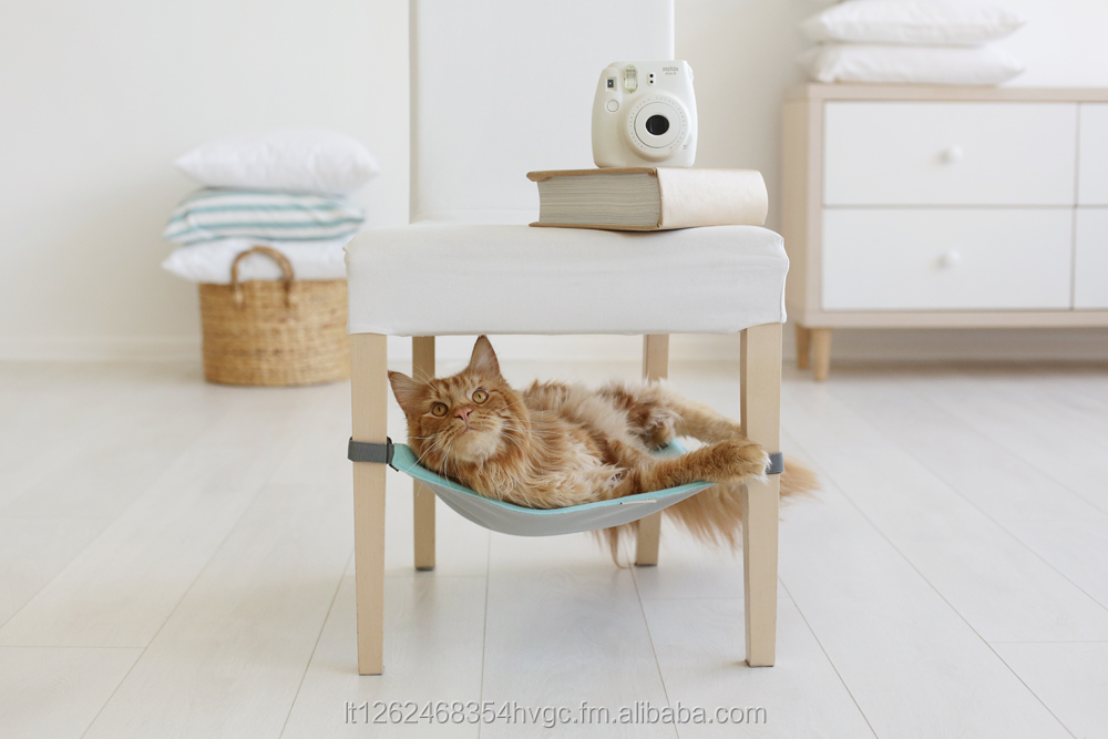 Various Colors Cat Hammock With Fleece For Under Chairs