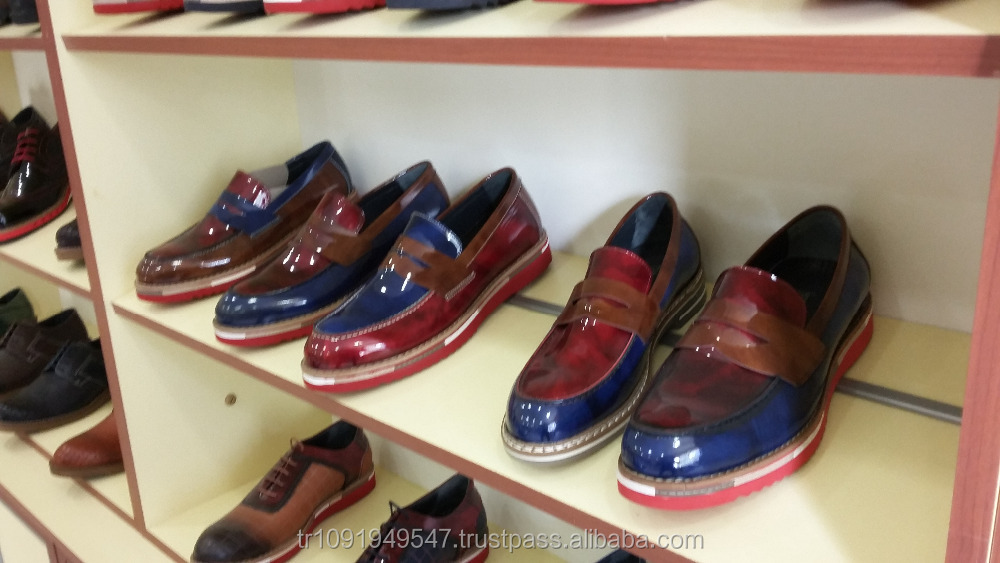 man casual shoes leather from own factory turkish shoes