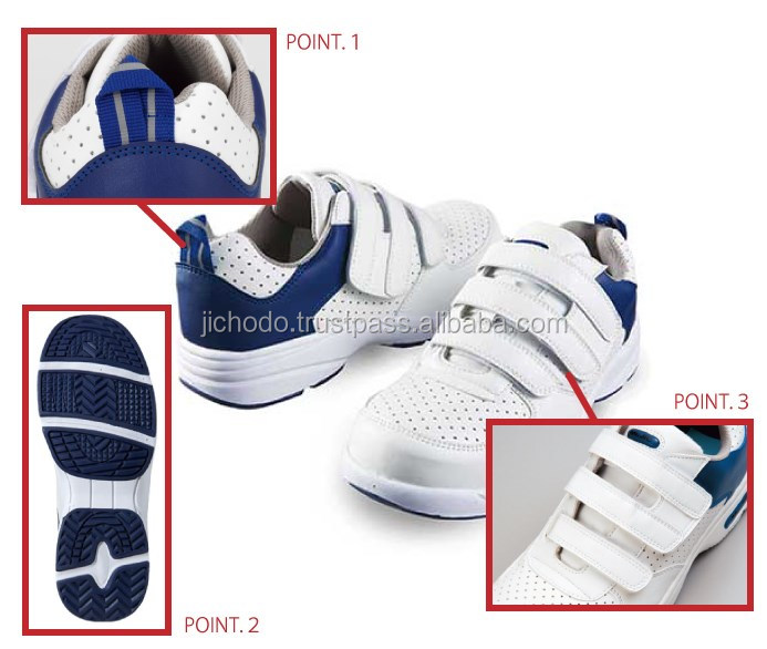 Made by japan safety shoes for men / Lightweight safety sneakers ( tape )