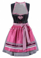 Pink and Black dirndl Custom Design Trachten Oktoberfest Bavarian Traditional Dirndl For Women