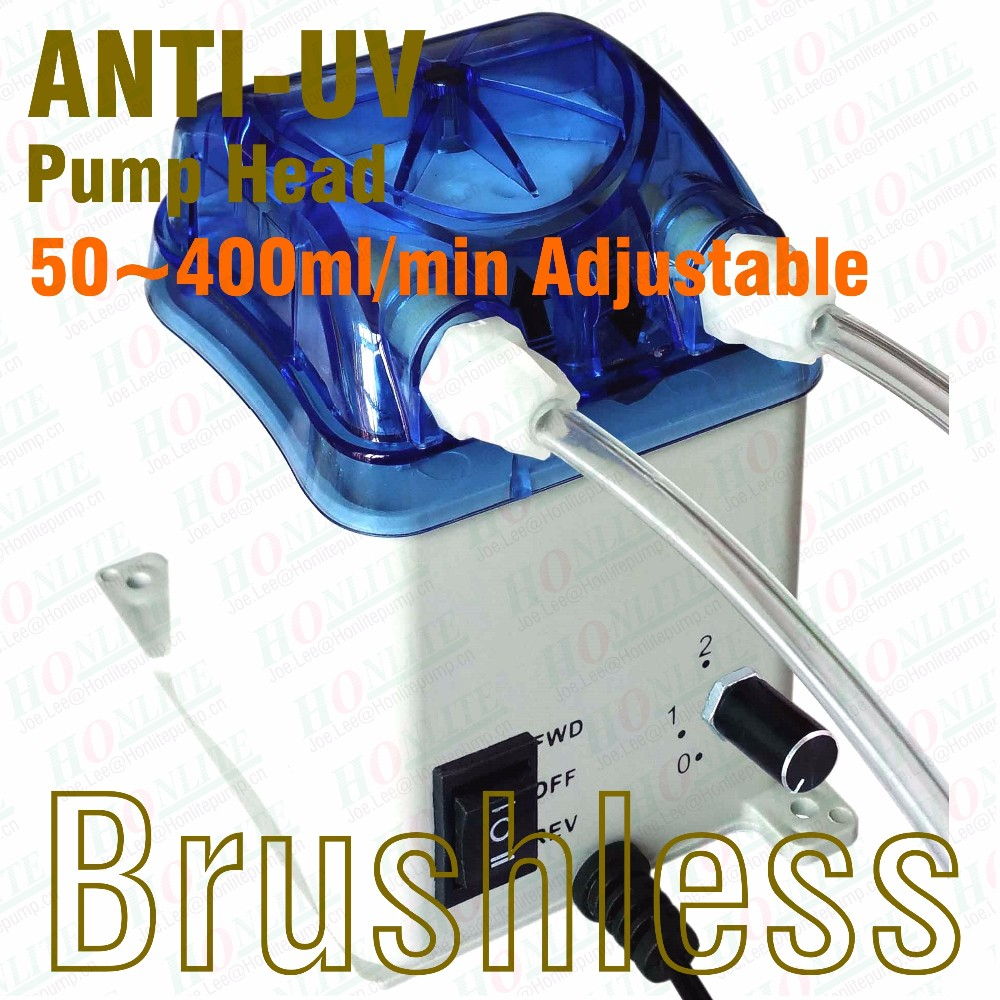 50~400ml/min adjustable flow, 24V Peristaltic Pump with exchangeable pump head and FDA approved PharMed BPT peristaltic tube