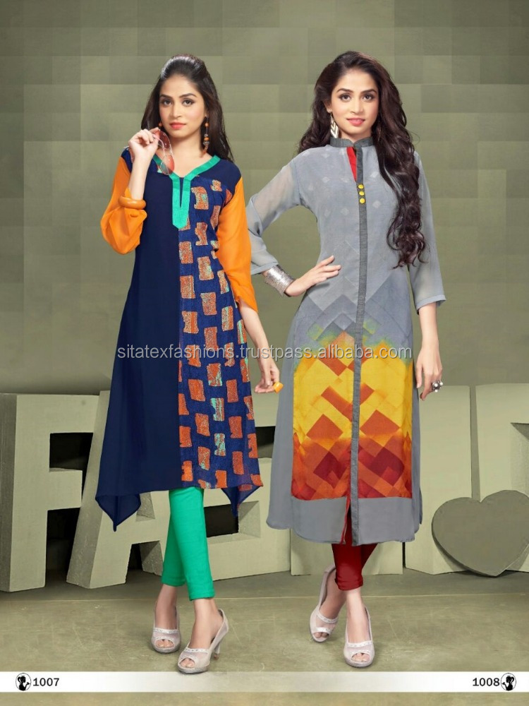 Ladies kurta design / Kurta embroidery designs women full sleeve cotton kurti / Kurti designs for stitching