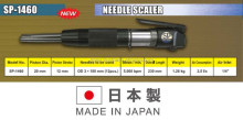 Light-weight pneumatic deburring needle scaler for industrial use, made in Japan, OEM available