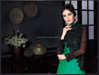 Regal Green Satin Silk Gown Style Anarkali Suit/readymade anarkali salwar suit /wholesale Anarkali Suit In India
