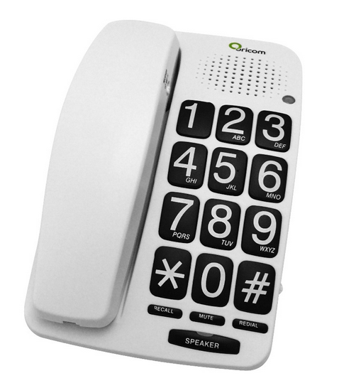 New arrival home used corded handset volume adjustable big button phone (TM-PA015)