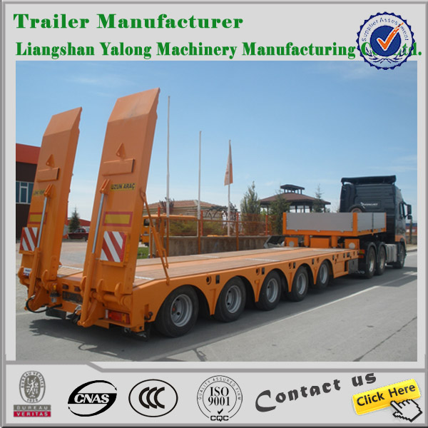 china manufacturer made durable 3 Axles Gooseneck Lowbed Semi Trailer