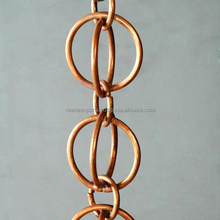 Copper Rain Chains/Hammered Copper Rain Chains/ Outdoor/Garden Ornament