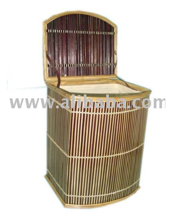 Vietnam Waste Bamboo Basket with lid