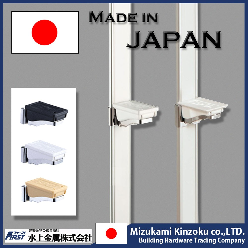 Aluminum and adjustable shelf support with 8mm pin made in Japan