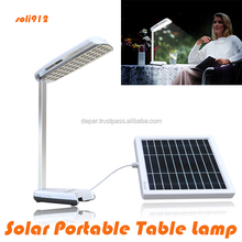 Foldable solar lantern table light with mobile phone charger