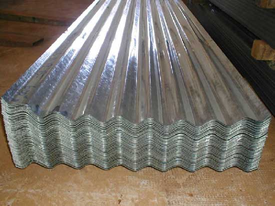 Hot dipped galv. Corrugated roofing sheet