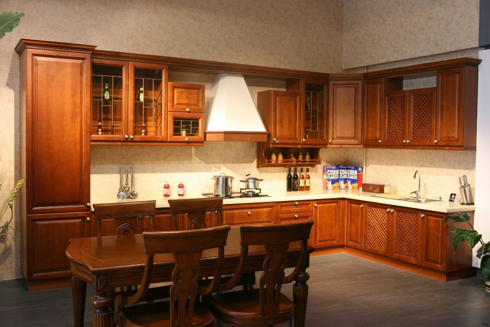 Simple design teak wood kitchen cabinet buy