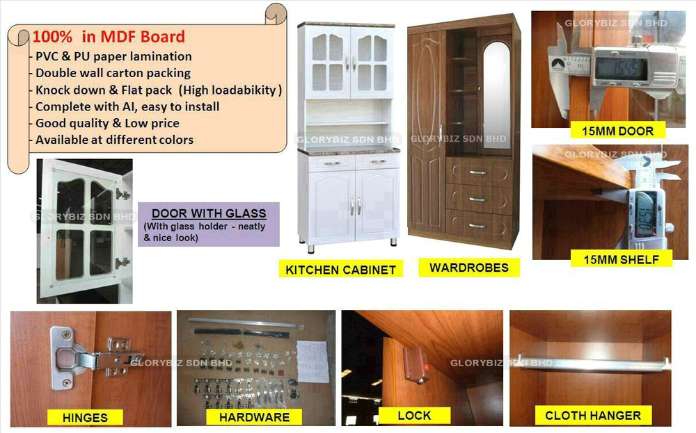 Wardrobe Cabinet, Bedroom Furniture With Mirror, Closet