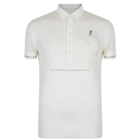 Factory direct Smart fit Polo Shirt Crafted in cotton knit fabric with a five button placket, a pocket to the front
