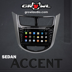 "OEM ANDROID HEAD UNIT 8"" CAPACITIVE TOUCH FIT FOR HYUNDAI SEDAN ACCENT"