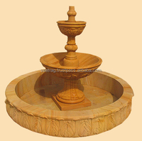 French Style Jaisalmer yellow sandstone stone fountain VAEJ-0125