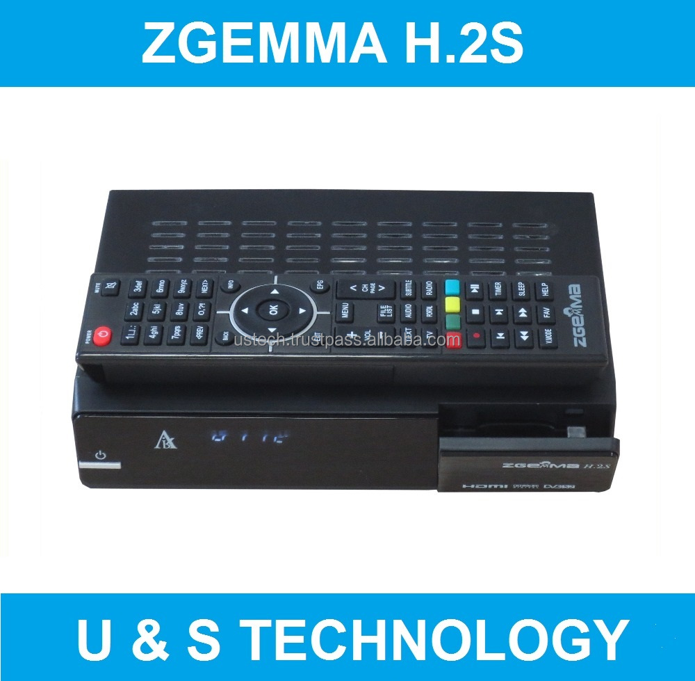 Air Digital Zgemma H.2S Satellite Receiver With High CPU Dual Core Linux OS E2 DVB-S2+S2 Twin Sat Tuners