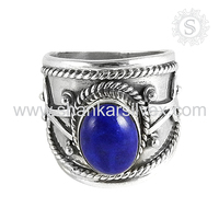 Shining Collection Of Lapis 925 Sterling Silver Jewelry Ring Jaipur Handmade Silver Jewellery Gemstone Supplier