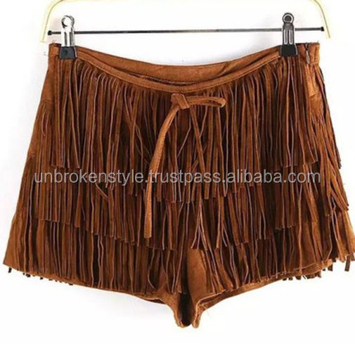 Ladies Soft Goat Suede Leather Shorts
