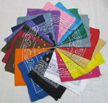 Best quality Paisley Printed Bandana manufacturer from India