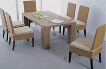 Classica water hyancinth dining set, Natural dining set from Viet Nam
