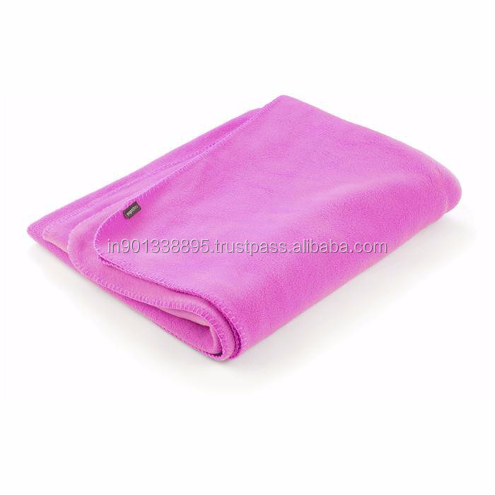 Fleece blanket for yoga postures