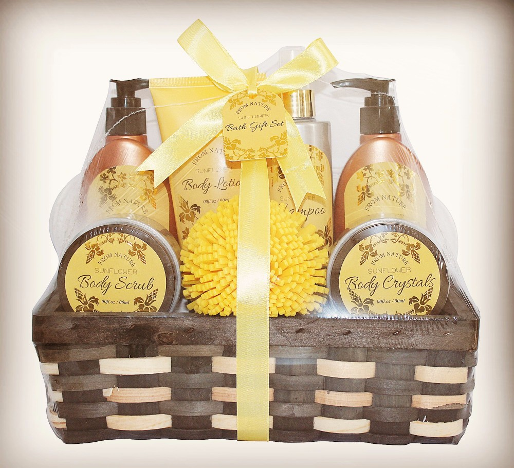 Daily Body Care Bath Set in Sunflower Fragrance with Anti-bacterial function