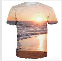 Dryfit Polyester Sun Set Sublimation T-Shirts/Custom Drfit Sublimated T-Shirt/Soft Fabric Made Custom Sublimation T-Shirts