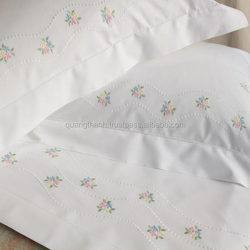 Hand Embroidery Bedding SetBed SheetBed LinenBaby
