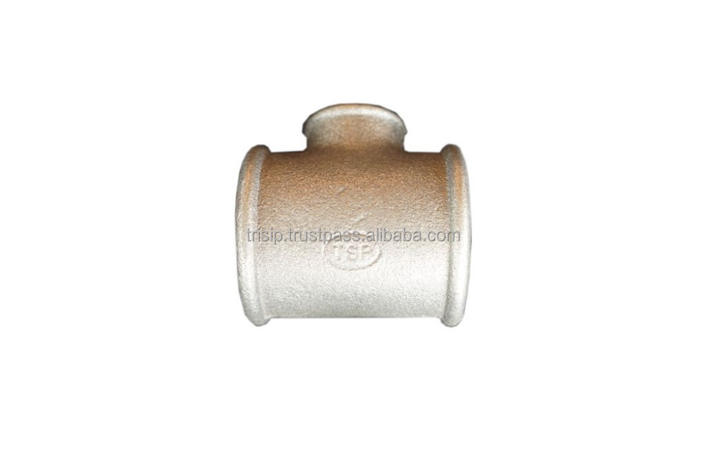 Reducing Tees Beaded, Galvanized Malleable Cast Iron Pipe Fittings BS Thread