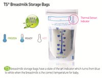 BPA FREE, double layered, zip lock, self-standing, freezer safe, breast milk storage bag