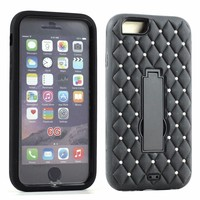 Diamond Armor Hybrid Case Cover with Screen Protector and Stand Case For 6 4.7