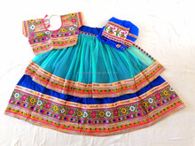 Ramleela Style Chaniya Choli-two layer Ramleela Style Chaniya Choli-Banjara Style Kutch embroidered Choli/Lehenga