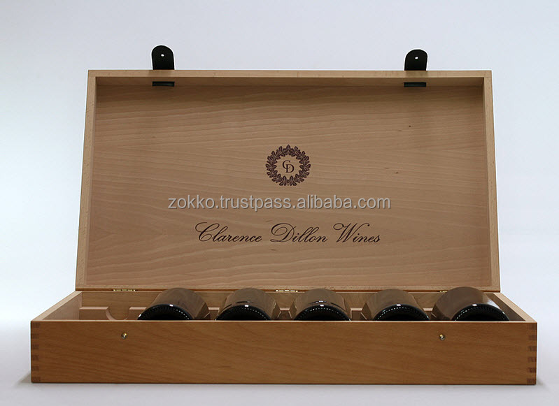 Wooden wine boxes, gift package for bottles, high quality, customer production is available