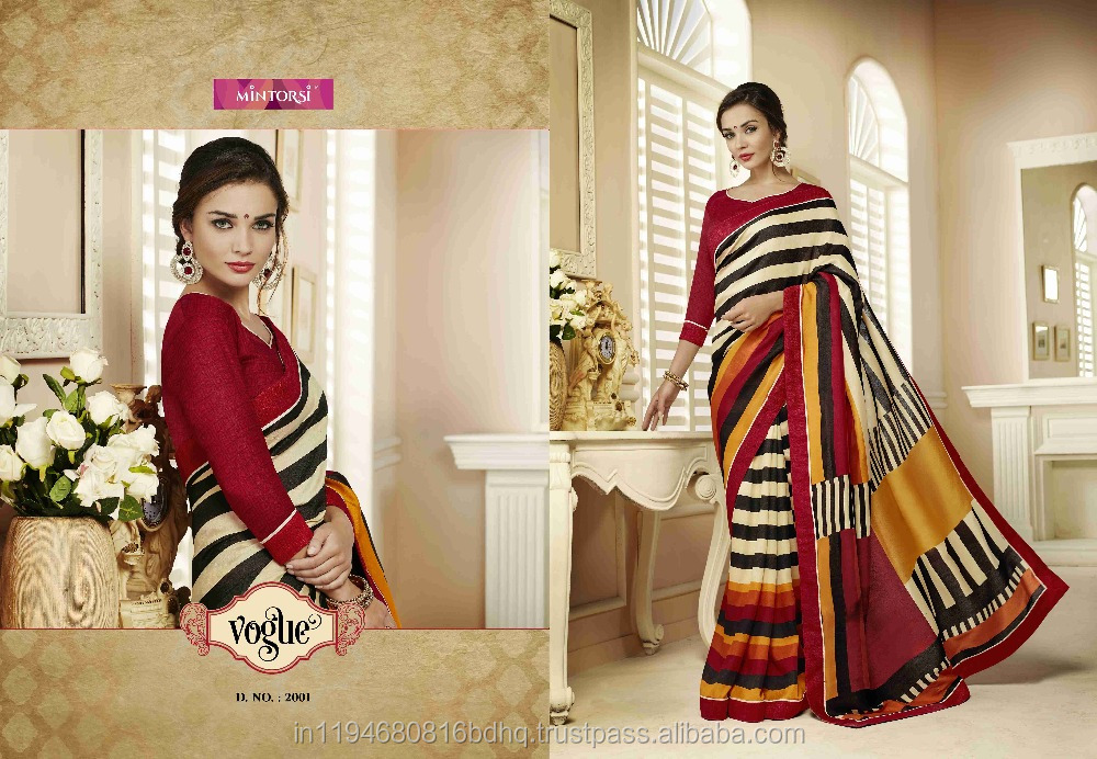 Party Wear georgette Designer Fancy Sarees