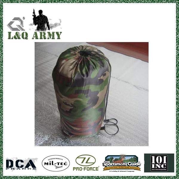 Military Single Adult Envelope Camo Sleeping Bags for Outdoor Camping
