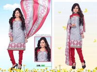 Latest Printed Work Dress Material / Wholesale Women Clothing